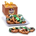St. Patrick's Day Belgian Chocolate Pretzel Twists- Gourmet Gift Box