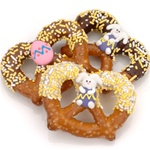Easter Chocolate & Caramel Pretzel Twists- Individually Wrapped