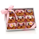 Mother's Day Chocolate Dipped Pretzel Twists, Clear View Gift Box of 9