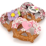 Mother's Day Chocolate & Caramel Pretzel Twists- Individually Wrapped