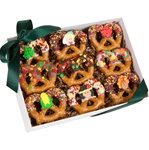 Thanksgiving Chocolate Pretzel Twists, Box of 9