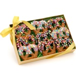 Chocolate Confetti Pretzel Twists, Box of 9