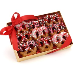 Sweetheart Chocolate Pretzel Twists, Box of 9