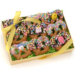Birthday Chocolate Pretzel Twists, Box of 9