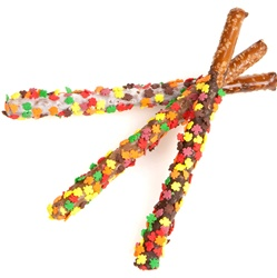 Autumn Leaves Pretzel Wands- Individually Wrapped
