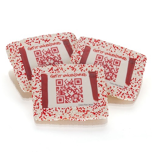 "QR-kies Chocolate 3.0"" X 4.0"" Rectangle"