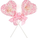 "Dipped & Decorated Jumbo Picture Crizpy Rice Bars- 3"" HEARTS"