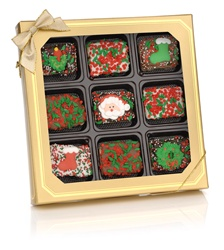 Christmas Chocolate Dipped Mini Crizpy ®- Window Gift Box of 9