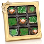 St. Patrick's Day Chocolate Dipped Mini Crizpy ®- Window Gift Box of 9