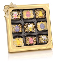 Easter Chocolate Dipped Mini Crizpy ®- Window Gift Box of 9