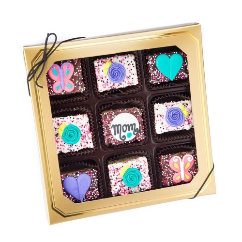 Mother's Day Chocolate Dipped Mini Crizpy ®- Window Gift Box of 9