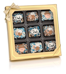 Father's Day Chocolate Dipped Mini Crizpy ®- Window Gift Box of 9