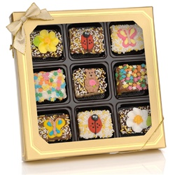 Spring Chocolate Dipped Mini Crizpy ®- Window Gift Box of 9