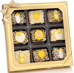 Neutral New Baby Chocolate Dipped Mini Crizpy ®- Window Gift Box of 9