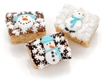 Winter Decorated Chocolate Dipped Mini Crizpy ®- Individually Wrapped