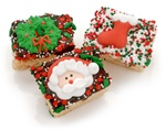 Christmas Chocolate Dipped Mini Crizpy ®- Individually Wrapped