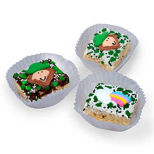 St. Patrick's Day Chocolate Dipped Mini Crizpy ®- Individually Wrapped