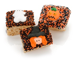 Halloween Chocolate Dipped Mini Crizpy ®- Individually Wrapped