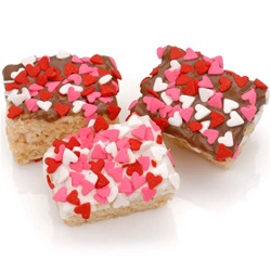Heart Sprinkles Chocolate Dipped Mini Crizpy ®- Individually Wrapped