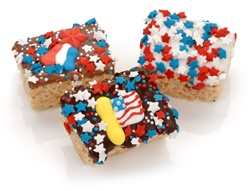 Patriotic Chocolate Dipped Mini Crizpy ®- Individually Wrapped