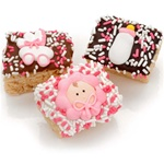 New Baby Girl Chocolate Dipped Mini Crizpy ®- Individually Wrapped