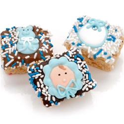 New Baby Boy Chocolate Dipped Mini Crizpy ®- Individually Wrapped