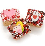 Romantic Chocolate Dipped Mini Crizpy ®- Individually Wrapped