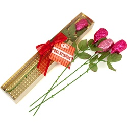 Rose Crizpy ®- Individual Long Stem in Gold Clear View Gift Box