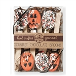 "NEW! Kraft Box of 6 Pumpkin 5.5"" Chocolate Spoons"