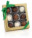 Holiday Belgian Truffle Cake Bons- Gold Gift Box