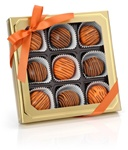 Tiger Stripes Belgian Truffle Cake Bons- Gold Gift Box
