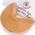 Peanut Butter Dipped & Drizzled Giant Fortune Cookie