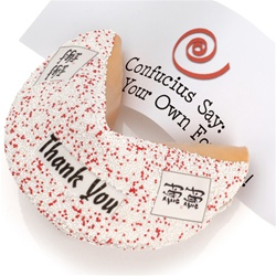 """Thank You"" Decorated Giant Fortune Cookie"