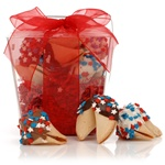 ® Take Out Pail of 6 Patriotic Fortune Cookies