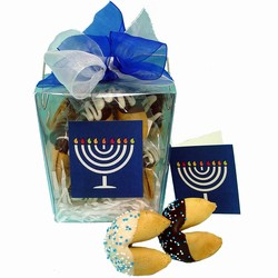 Hannukah Take Out Pail of 6 Fortune Cookies