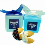 Hannukah Take Out Pails of 2 Fortune Cookies- Set of 6 Pails