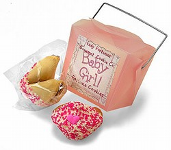 New Baby Girl Take Out Pail Favors