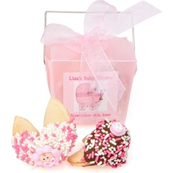 Baby Girl Personalized Take Out Pail of 2 Fortune Cookies