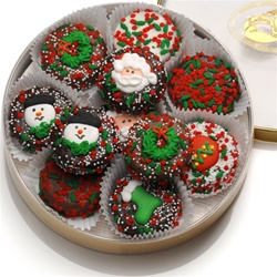 Wheel of 16 Christmas Dipped & Decoratd Oreos®