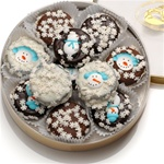 Winter Wheel of 16 Chocolate Dipped & Decorated Oreos®