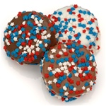 Red White and Blue Stars Chocolate Dipped Oreos®- Individually Wrapped
