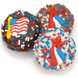 Patriotic Chocolate Dipped Oreos®- Individually Wrapped