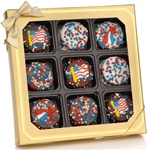 Patriotic Chocolate Dipped Oreos®- Window Box of 9