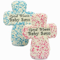 Christening Edible Text Sugar Cookies