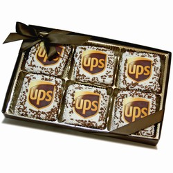 UPS® Chocolate Grahams-Clear View Box of 12- White Chocolate Edition