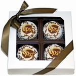 UPS®  Oreo® Cookies Square Window Box of 4- White Chocolate Edition