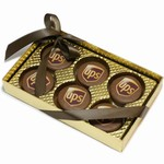 Gold Clear View Box of 6 UPS®  Oreo® Cookies- Milk Chocolate Edition