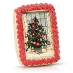 Vintage Iced Christmas Cookie Card