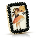 Vintage Iced Boo! Cookie Card
