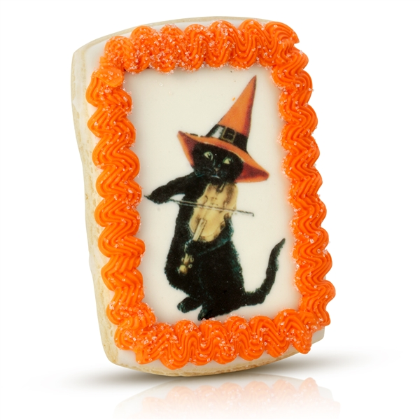 Vintage Iced Halloween Cookie Card